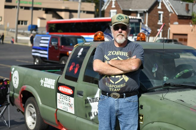 Richard Leach has transformed his vehicle into the Zombie Truck of Canton.