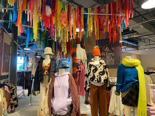 Urban Outfitters sells clothing and accessories with a hipster vibe for young adults from ages 18 to 28.