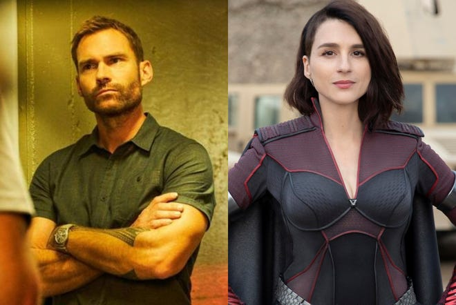 """Seann William Scott (left) and Aya Cash will star in Fox's new comedy series """"This Country,"""" which will resume filming in Wilmington in November."""