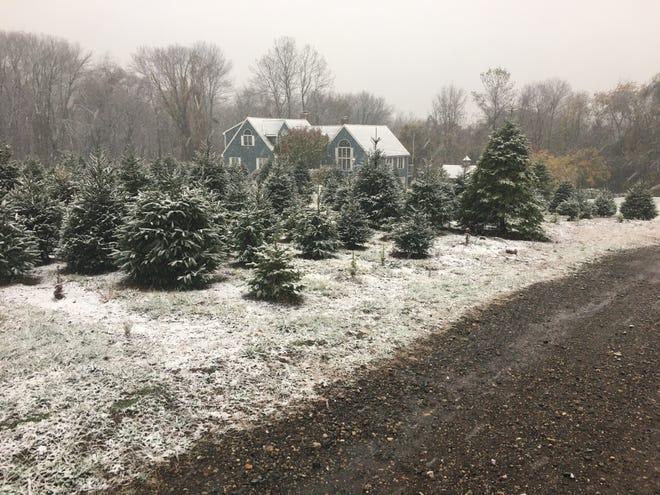 First snowfall of season.