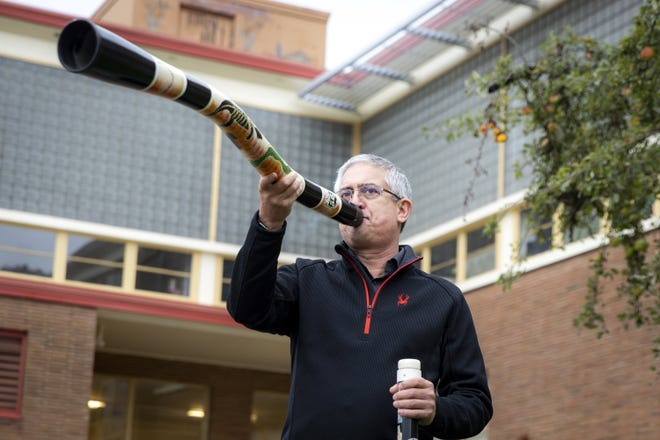Cuauhtemoc Escobedo, also known as Mr. E,  is the band teacher at Eckstein Middle School in Northeast Seattle, and is known for his dedication to the didgeridoo.