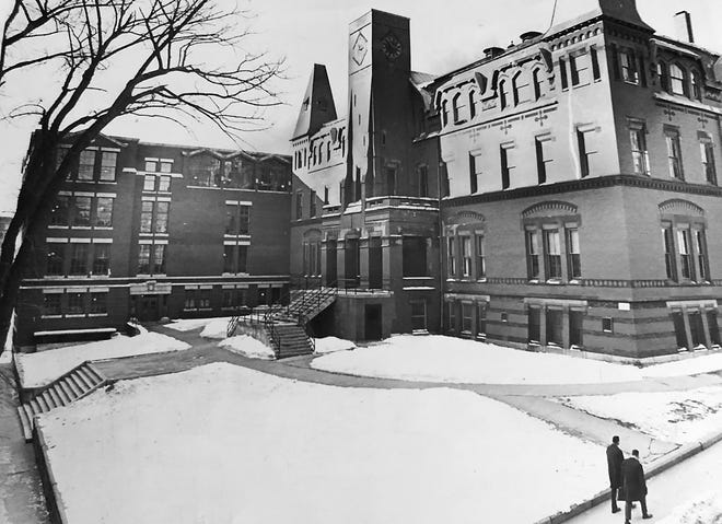 Commerce High in a 1966 photo.