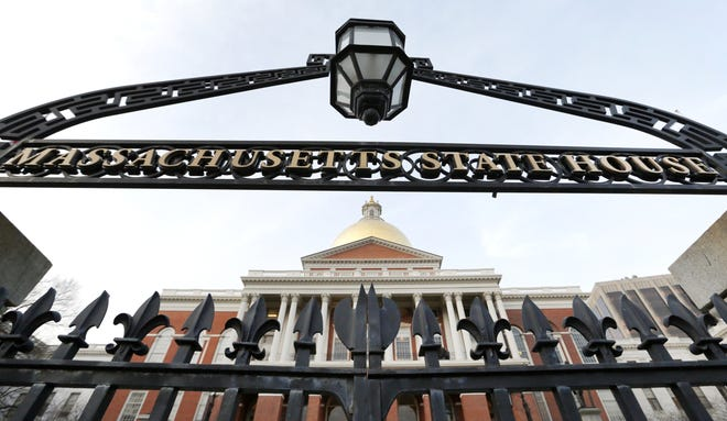 This file photo shows the Massachusetts State House in Boston.