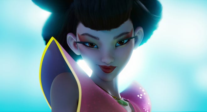 "Chang'e (voiced by Phillipa Soo) in the movie ""Over the Moon."""