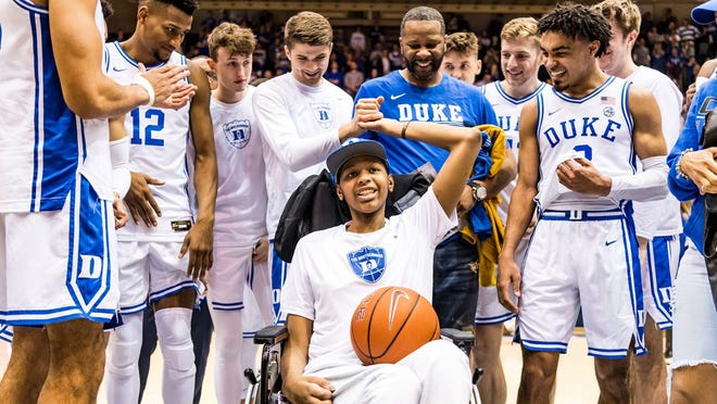 Antonio Sellers, a lifelong Duke fan and New Jersey native, had his Make-A-Wish moment in March when the Blue Devils hosted rival North Carolina in the regular-season finale.