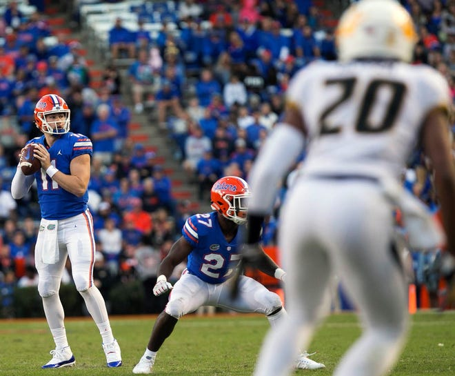 The Gators have won nine straight at Florida Field, celebrating every game at The Swamp since Mizzou routed them two years ago. Kyle Trask took over at quarterback late in the 38-17 loss.