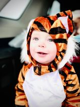 Ozden James Ketchem, 1, enjoyed his first trick or treat experience this year.
