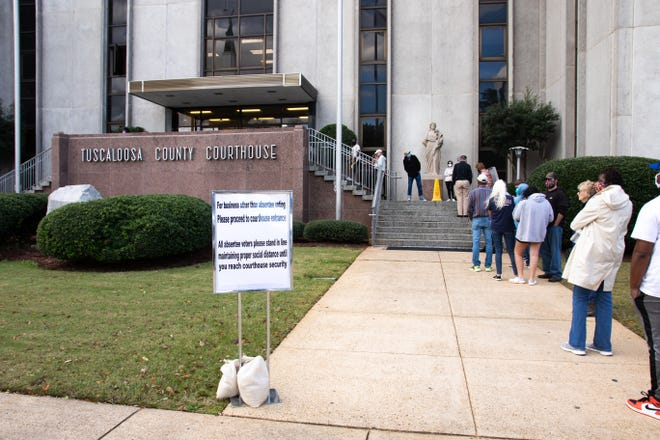 Much like Tuscaloosa County officials did in November, city officials are hosting two Saturday drop-offs at City Hall for absentee ballots in the lead up to the March 2 municipal election. [Staff file photo/Hannah Saad]