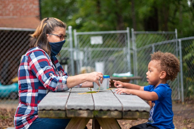 Outdoor learning helps children explore and engage with the natural world around them.