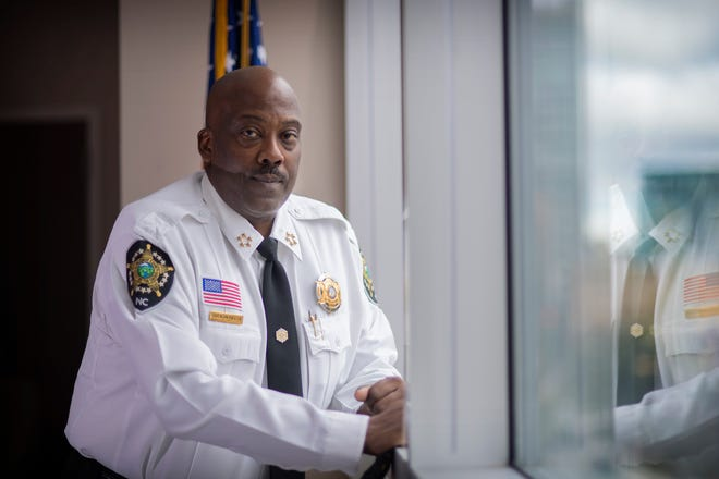 Quentin Miller is the sheriff of Buncombe County. Photographed Oct. 30, 2020.