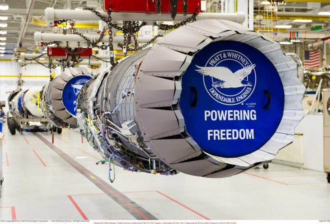 """The new Pratt & Whitney manufacturing plant in Asheville will produce turbine airfoils, a component of its jet engines. Pratt & Whitney President Chris Calio said the parts are """"a critical component across our engine portfolio and demand will increase significantly as the market recovers over the next several years."""""""