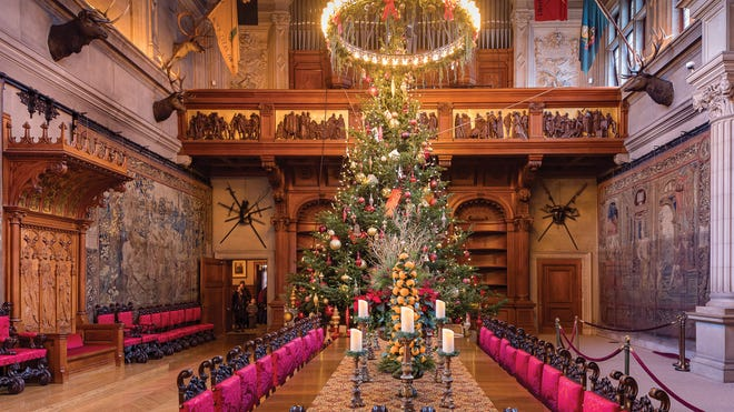 Watch Biltmore Estate bring in the holidays with giant tree raising