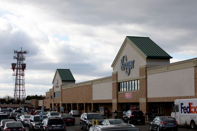 A view of the Kroger in Delhi on Friday, Oct. 30, 2020.
