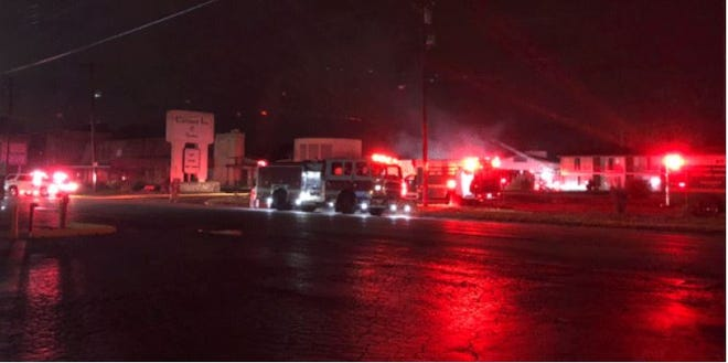Crews are on scene of a fire at a hotel off Reading Road in Sycamore Township Friday morning