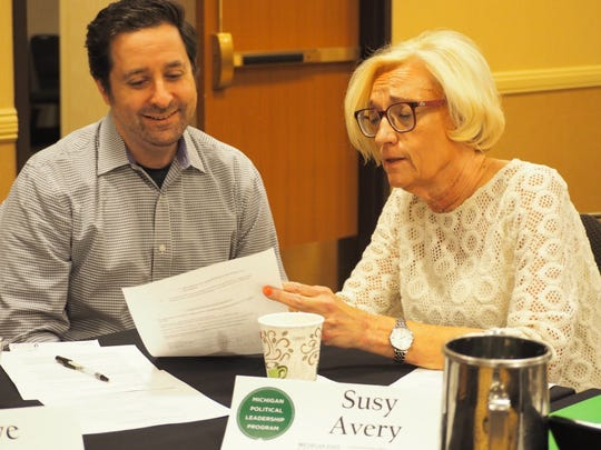 Susy Avery  of the Michigan Political Leadership Program, right, with Steve Tobocman as the two codirectors of the MSU program work to educate 24 fellows each year.