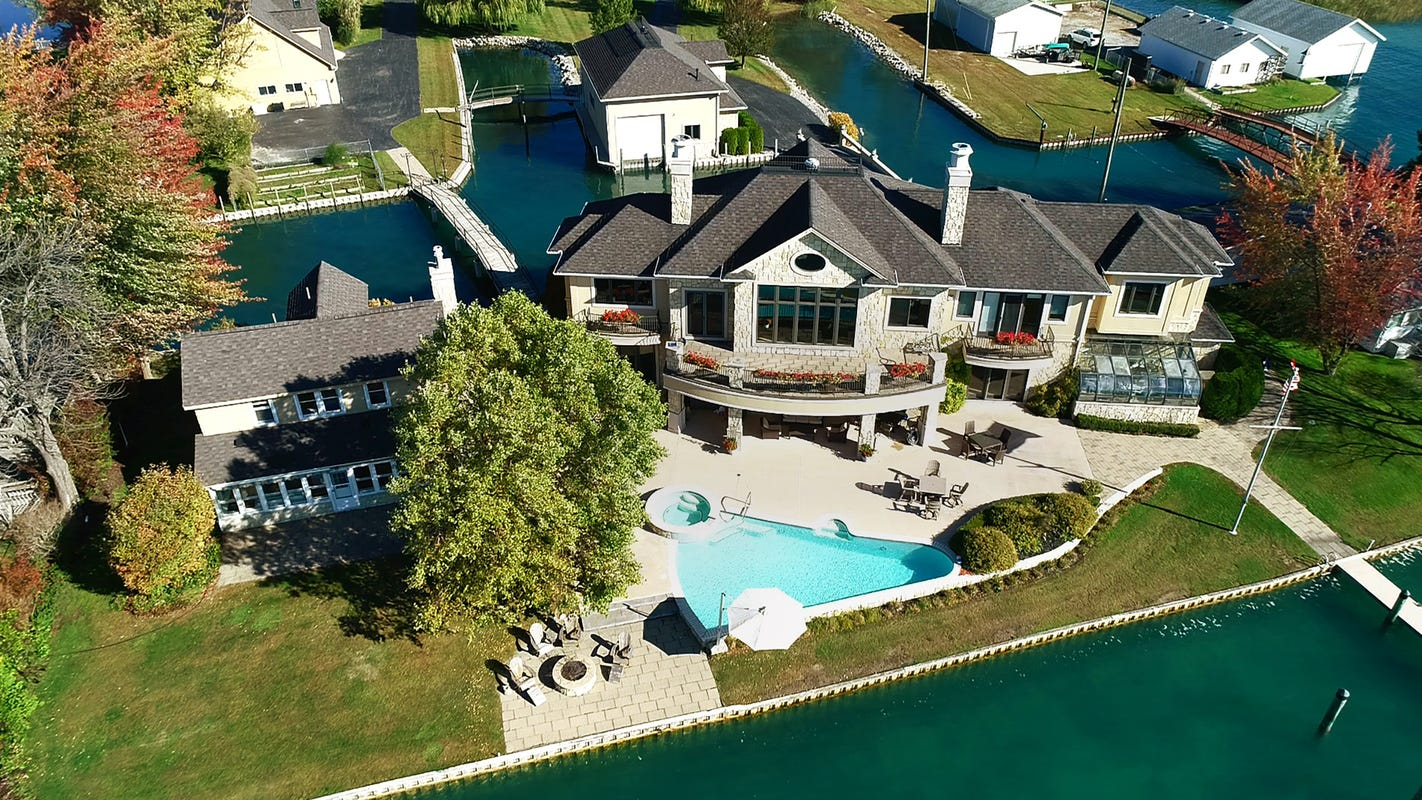 $2.6M Harsens Island property comes with 2 homes, 2 shorelines