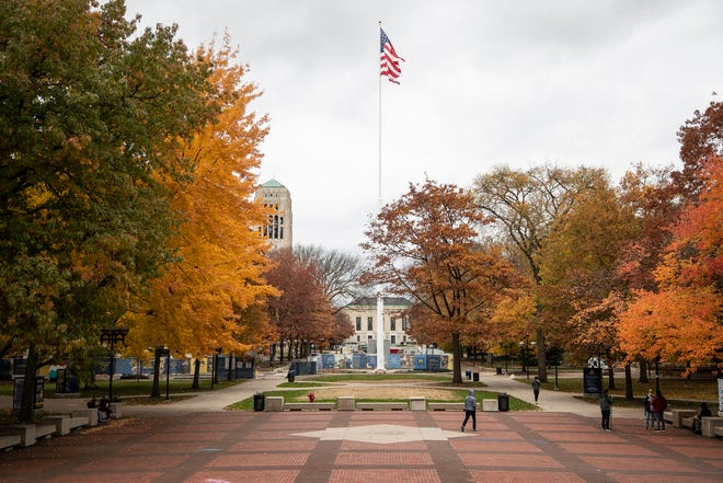 The Diag on U-M central campus in Ann Arbor, Friday, Oct. 30, 2020.