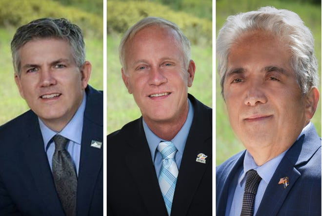 Larimer County commissioners Tom Donnelly, Steve Johnson and John Kefalas.