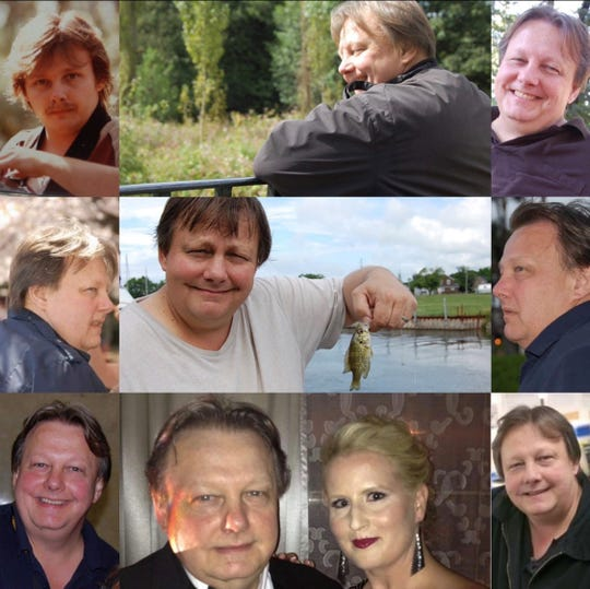 David Boothman in a collage of family photographs.