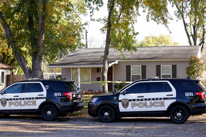 Lafayette Police Department investigate the scene of a homicide on the 1100 block of Rochelle Drive, Friday, Oct. 30, 2020 in Lafayette.