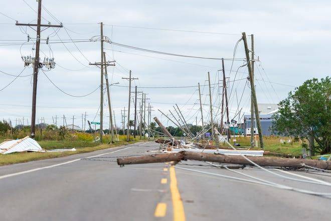 Hurricane Zeta causes damage to Grand Isle, LA. Friday, Oct. 30, 2020.
