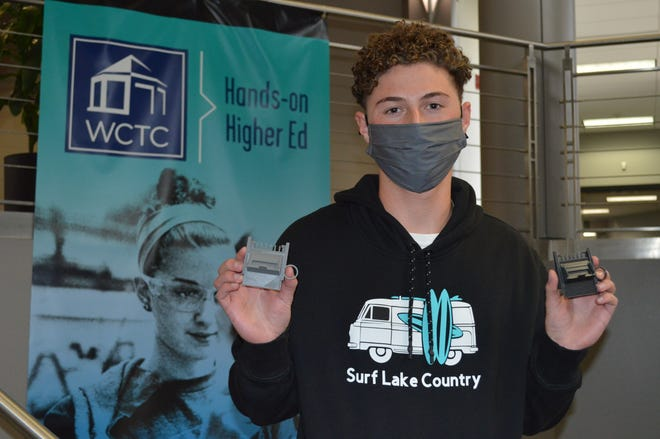WCTC student Hunter Perock, 19, created Surf Lake Country and the EZ Fade Haircut Guard.