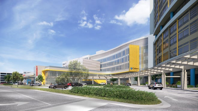 Rendering of the new emergency department planned for Children's Wisconsin's hospital in Wauwatosa.