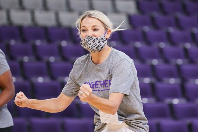 First-year GCU women's coach Molly Miller hopes her team can turn heads in the WAC. Photo from GCU Athletics