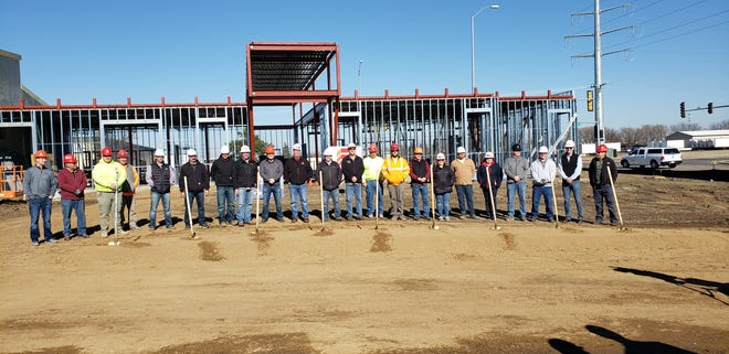 A photo of the groundbreaking of the IBEW Local 426 new headquarters building planned for a site near the intersection of Benson Road and Fourth Avenue.