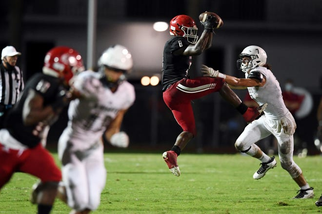 Vero Beach High School hosted Clearwater Academy International on Thursday, Oct. 29, 2020, for a football game at the Citrus Bowl. Vero Beach lost the game 29-30.