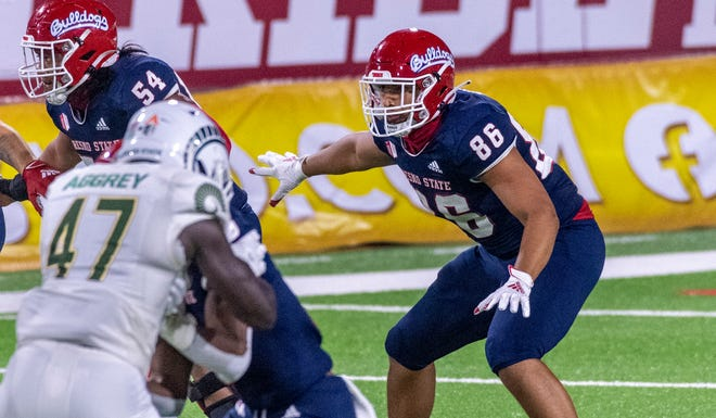 Fresno State's Jared Torres, an El Diamante graduate, plays against Colorado State on Thursday, October 29, 2020.