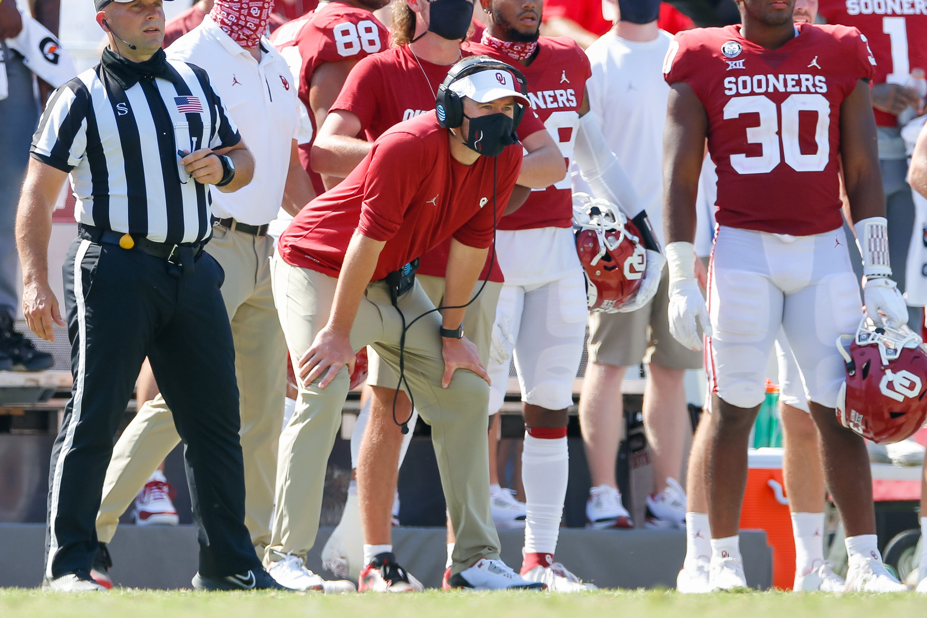 As views on marijuana shift, Oklahoma coach Lincoln Riley says punishment 'not right' for suspended Sooners