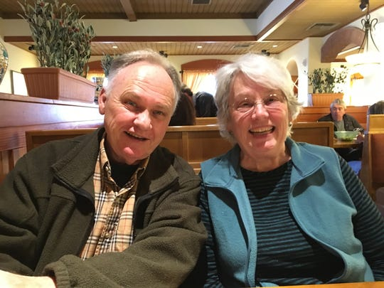 Randy Cavanaugh and Kathy Carlson Cavanaugh, Laura Packard's mother, on April 18, 2018, in Cookeville, Tennessee.