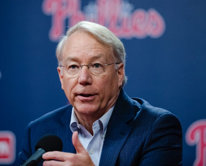 Phillies president Andy MacPhail has one year left on his contract.