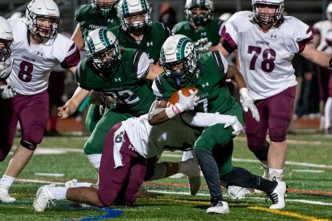 Pennridge, and senior running back Cornelius Shoemake, take on arch-rival Quakertown on Thanksgiving morning (10:15 a.m.) in the 91st meeting between the two. Pennridge leads Quakertown, which hosts the game Thursday, 57-28-5 in the all-time series.