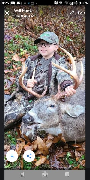 9-year-old Brandon Ford shot this eight point at Salt Fork with a crossbow