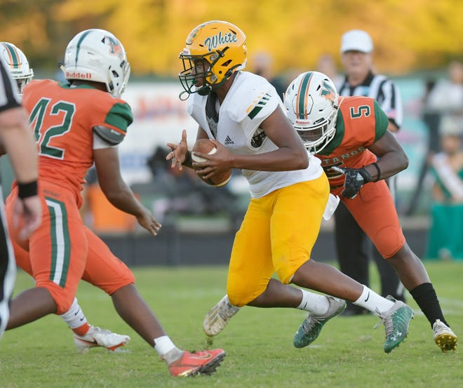 Mandarin hosted Ed White in a high school football game in October. The Florida High School Athletic Association voted Monday to move forward with reclassification, but the new classes will remain in effect for only the 2021-22 school year.