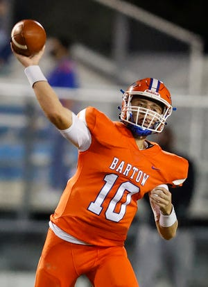 A COVID-19 quarantine cost Bartow its starting quarterback, Lin Johnson, in last week's playoff game.