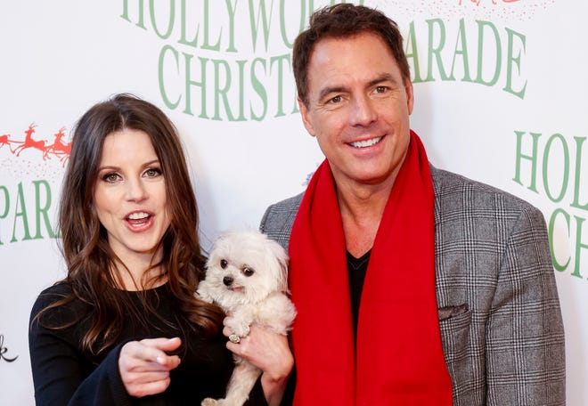 Leanza Cornett, left, and Mark Steines arrive at the 85th Annual Hollywood Christmas Parade in Los Angeles in November 2016.  Cornett, Miss America 1993, has died from injuries suffered in a fall at her Florida home. The Miss America pageant announced her death. She died Wednesday at 49, two weeks after being injured at her Jacksonville home.