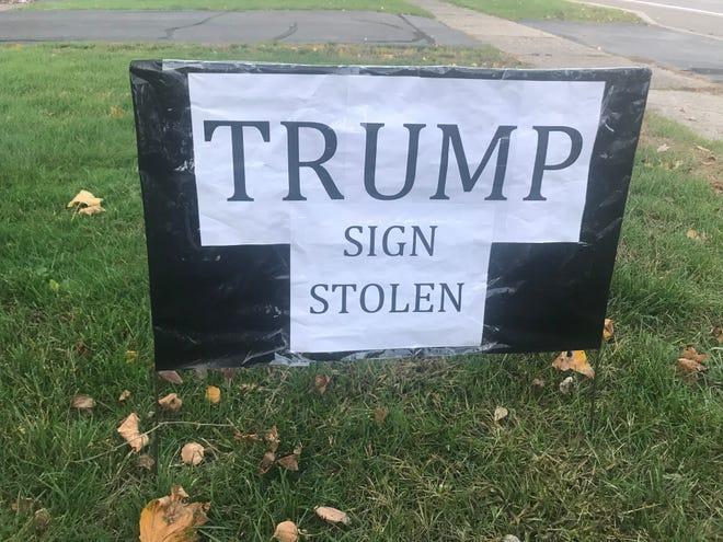 Stealing a Trump sign won't change minds.