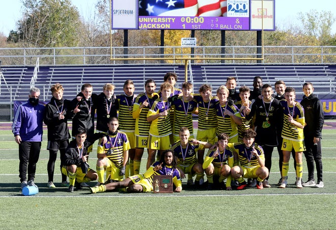 The Jackson boys soccer team won a Division I district championship Saturday, defeating visiting University School 1-0.