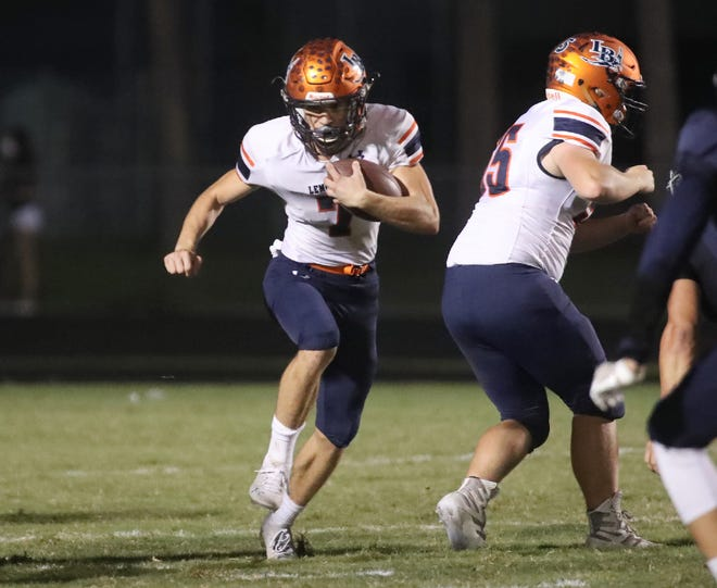 The Lemon Bay High football team won its seventh straight game and posted its fourth shutout of the season with a 35-0 decision over Lemon Bay.
