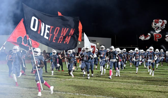The Palmetto High football team will be in action in an FHSAA play-in playoff game 7:30 p.m. Friday against Tampa Blake at Harllee Stadium.
