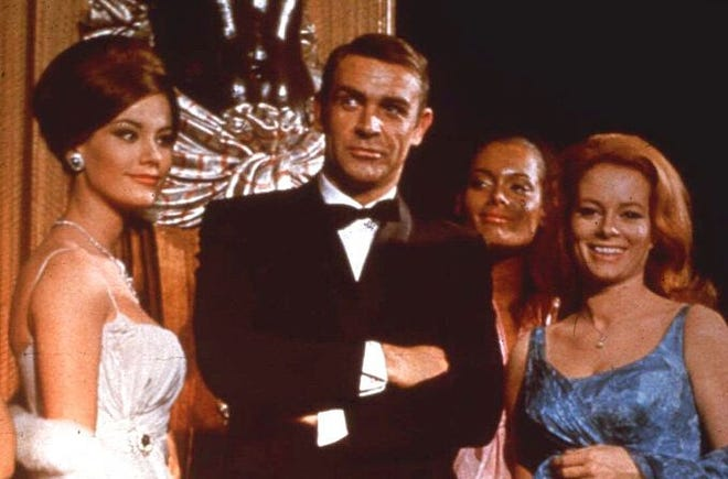Sean Connery, as James Bond, poses in an event for the movie 'Thunderball'. Connery, considered by many to have been the best James Bond, has died aged 90.