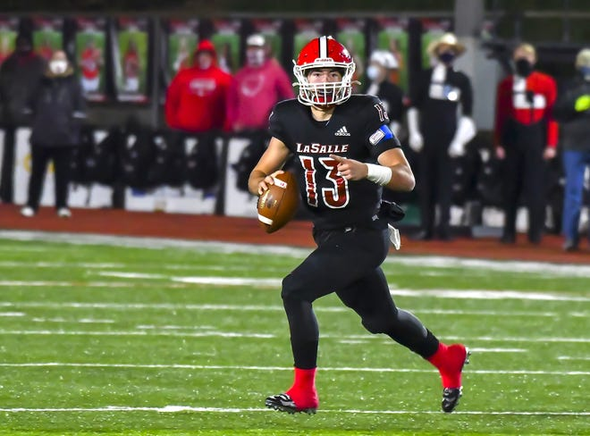 La Salle quarterback Zach Branam was named Division II state player of the year for 2020.
