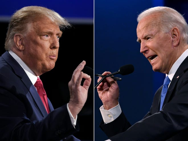 Students cast their early votes for presidential candidates Donald Trump and Joe Biden or a third-party in the 2020 general election.