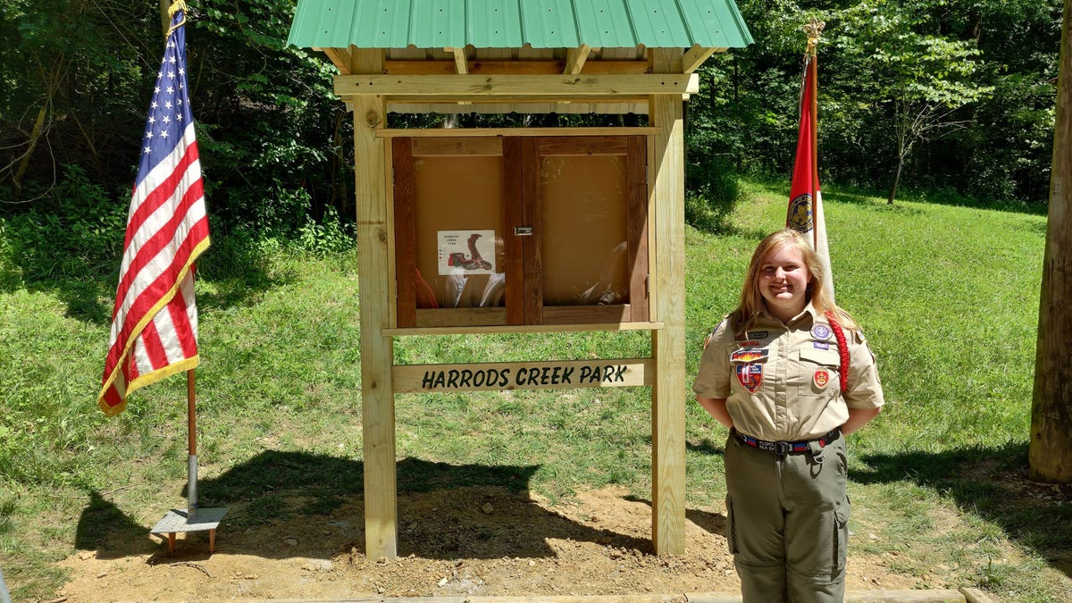 Kentucky got its first female Eagle Scout. She...