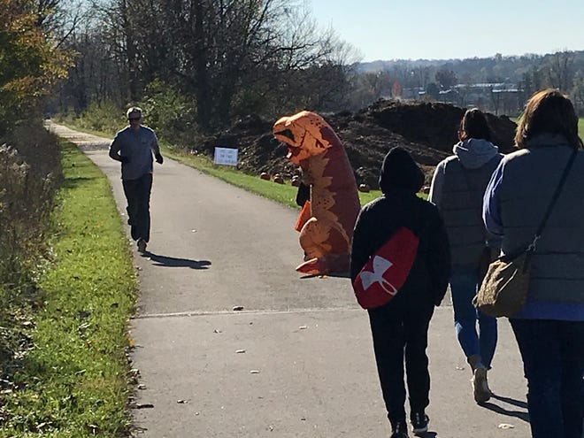 The Lexington Halloween Trail Walk was a big hit with kids who wore their costumes and mixed with  trail users on the Richland B & O Trail Walk Saturday.