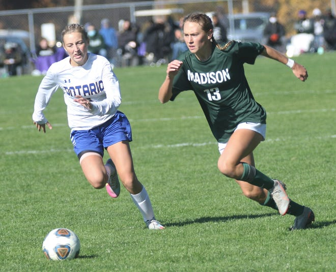 Madison's Taylor Huff handed out two assists and scored a goal in a 3-1 Division II district championship win over Ontario on Saturday afternoon at Lexington High School.