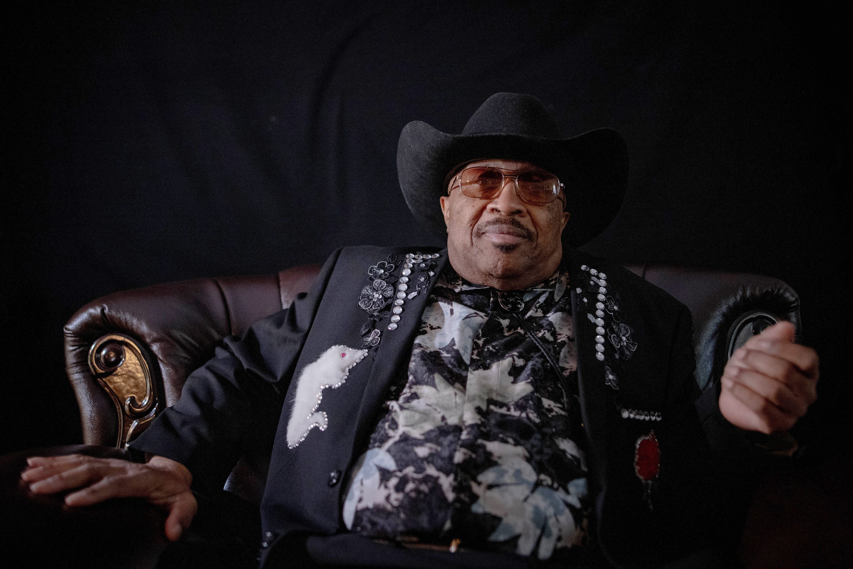 Swamp Dogg sits in his living room at his home in Northridge, Calif. on Thursday, October 29.